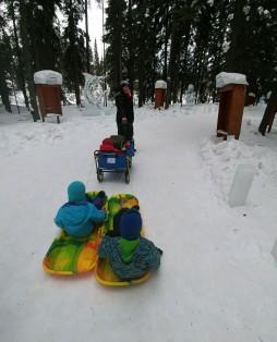 2018_03 12 Ice Park - sleds