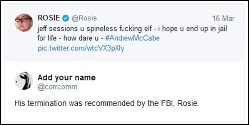 2018_03 16 Rosie tweet