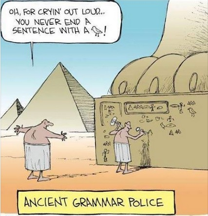 Ancient Grammar Police