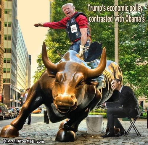 2018_05 04 Trump v Obama bullish economics by Terrell