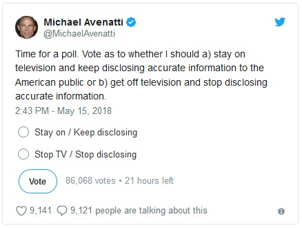 2018_05 15 Avenatti poll