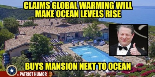 CLIMATE Al Gore's mansion by the ocean