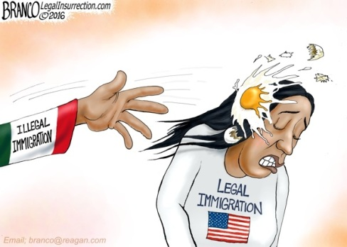 2016 Illegal immigration toon by Branco