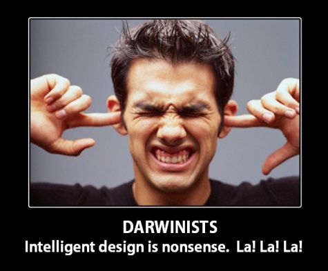 2018_06 11 DARWINISTS ID is nonsense la la la