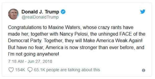 2018_06 27 Trump tweet