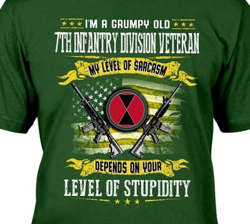 2018_08 Infantry sarcasm tshirt