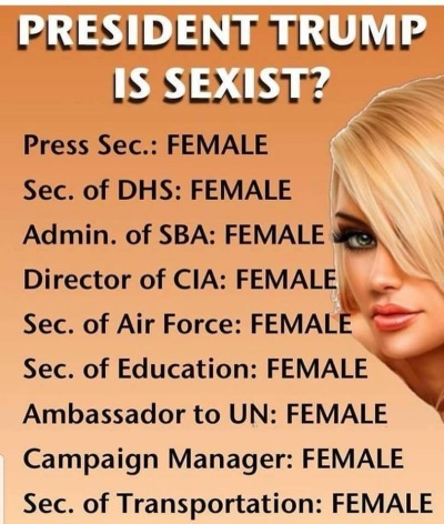 2018_08 Trump is sexist NOT