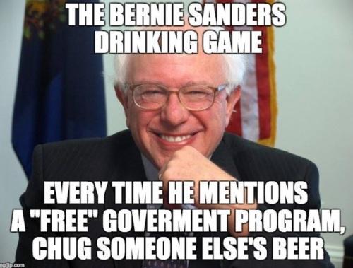 2018_08 Bernie Sanders drinking game