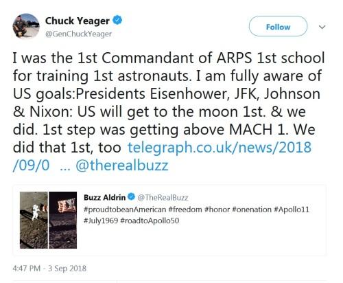 2018_09 03 Chuck Yeager tweet
