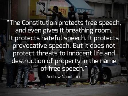 2018_10 17 Napolitano on speech rights