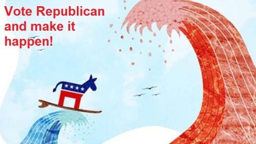 2018_10 22 Vote Republican waves