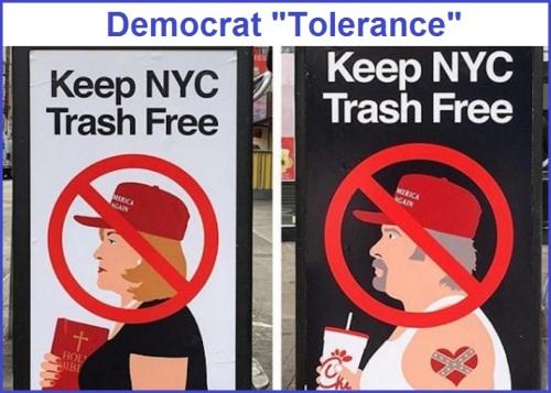 2018_10 30 Democrat tolerance