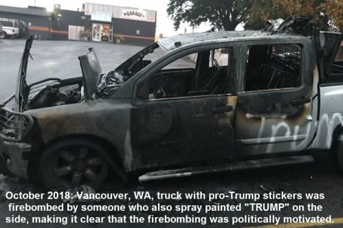 2018_10 Truck firebombed