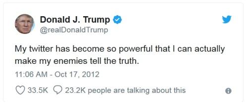 2012_10 17 Trump Tweet