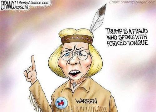 2016 Warren fraud toon