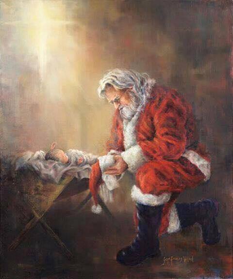2018_12 06 Santa praying Jesus