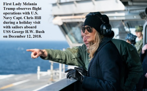 2018_12 12 Melania on deck