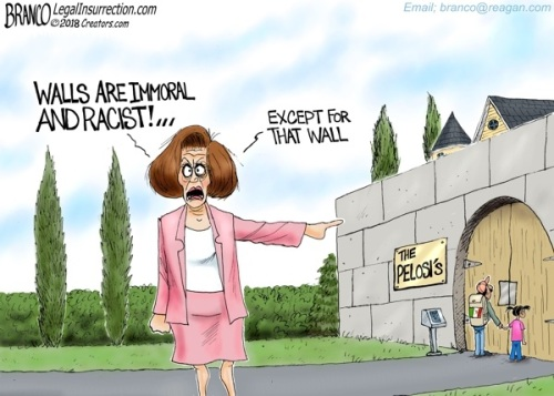2018_12 20 Pelosi wall toon by Branco