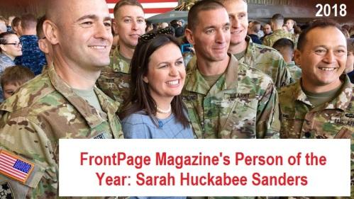 2018_12 26 FrontPage Sarah Sanders