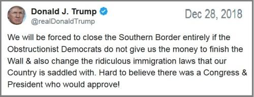 2018_12 28 Trump tweet