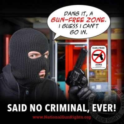 2a gun free zone sign