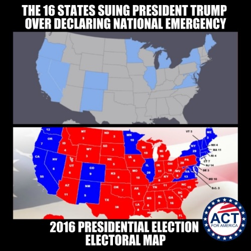 16 states suing Trump