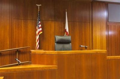 Empty judge seat