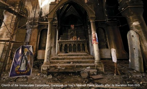 ISIS trashed church
