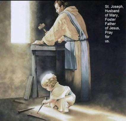 St Joseph and toddler Jesus