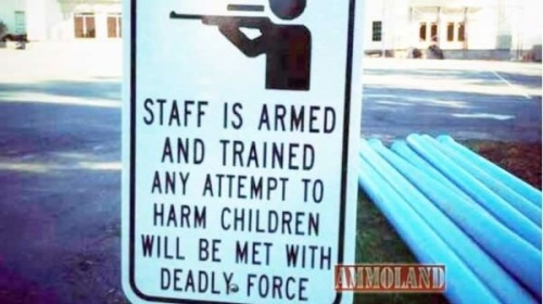 Staff is armed