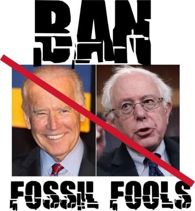 BIDEN BERNIE fossil fools