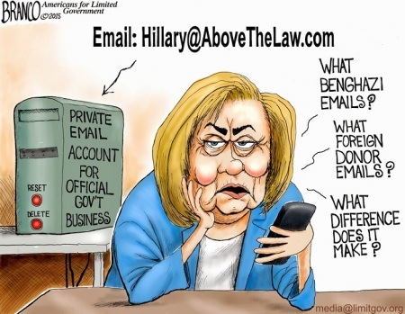 Hillary above the law