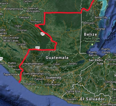 mexico's southern border map