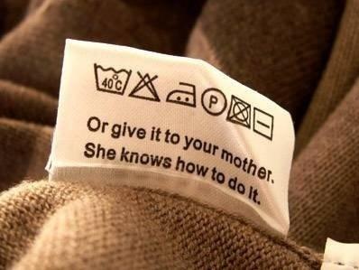 MOM Laundry tag