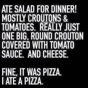PIZZA Salad for dinner