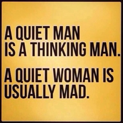 Quiet man v woman