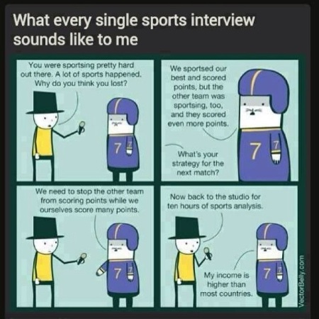 SPORTS tv interview