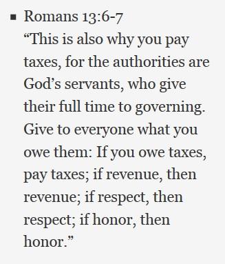 Taxes Roman 13 6-7
