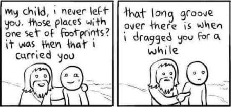 God foot prints