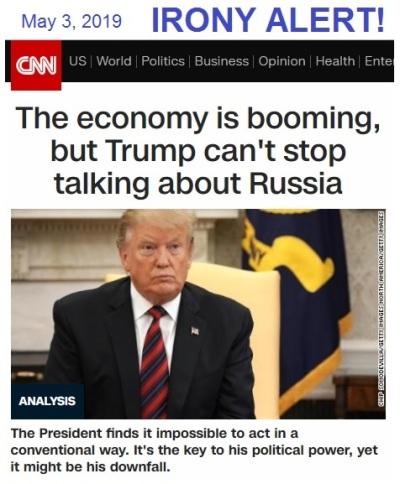 irony alert CNN