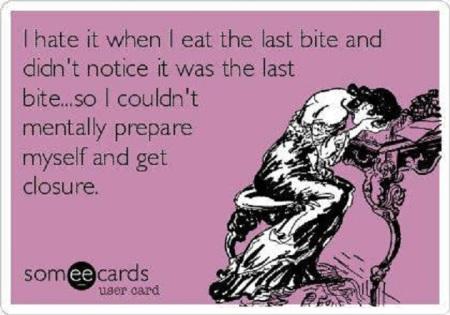 FOOD Last bite closure