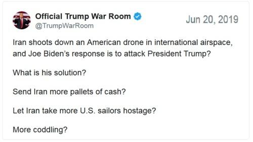 Iran drone tweet