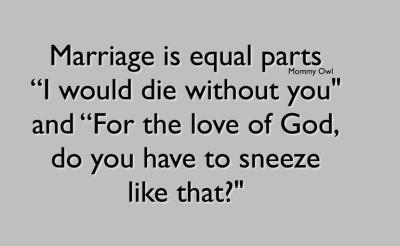MARRIAGE sneeze