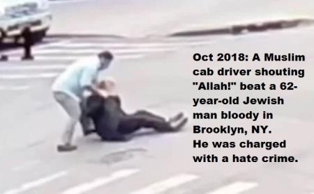 muslim beats jew