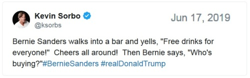 Sorbo Bernie tweet
