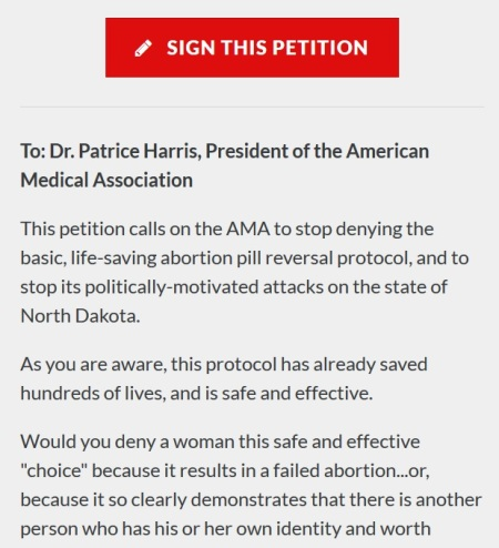 abortion petition