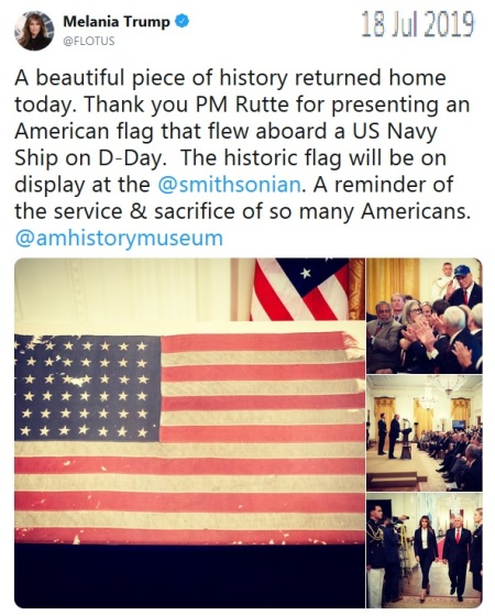 Flag comes home