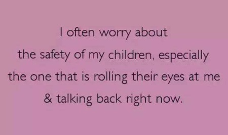 PARENTING worry about safety