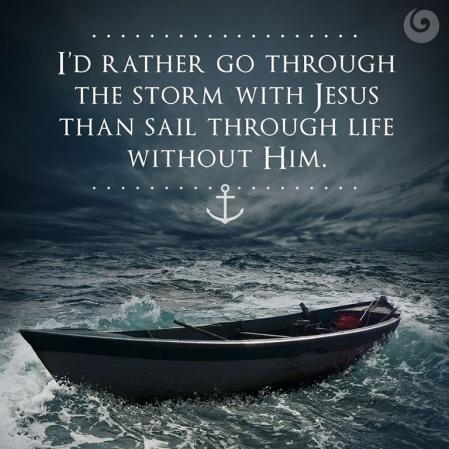 Sail through w Jesus