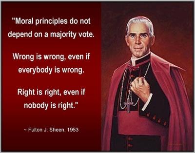 Sheen moral principles